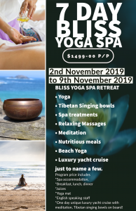Read more about the article Bliss Yoga Spa Program and BONUS exclusive luxury yacht day!